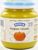 Biobim Biobim Babyhapje Pompoen puree 4 mnd, Bio